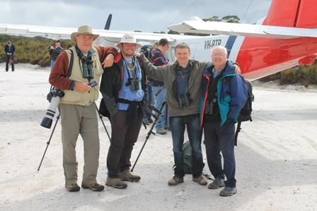 Tassie Team at Melaleuca (Mike Unwin)